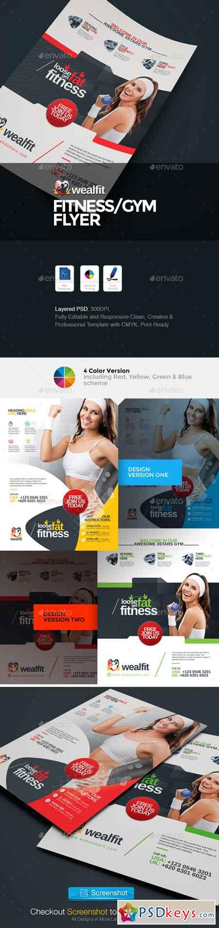 WealFit Fitness - Gym Flyer 10065074