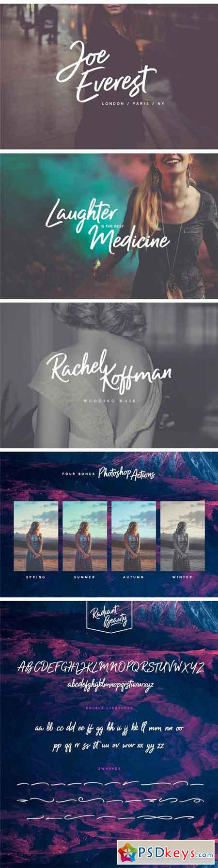 Radiant Beauty - Casual Brush Font 1272502