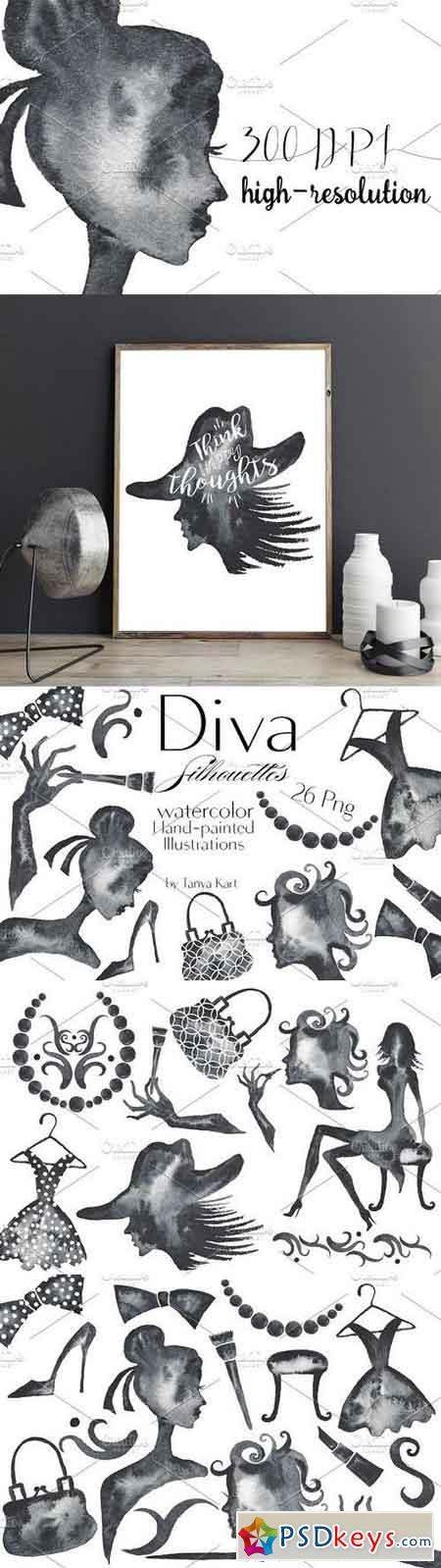 Diva Silhouettes Black collection 1164781