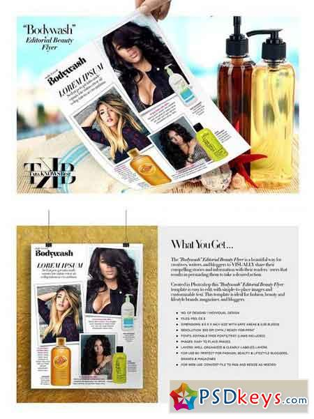 Editorial Beauty Page Flyer 1164753