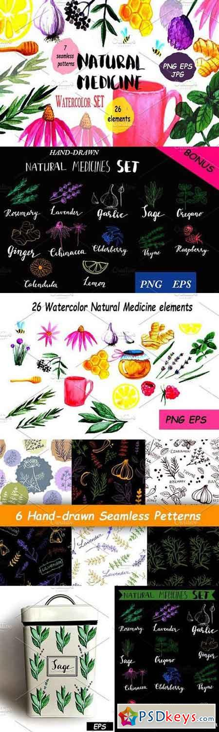 Natural Medicine Watercolor Set 1173349
