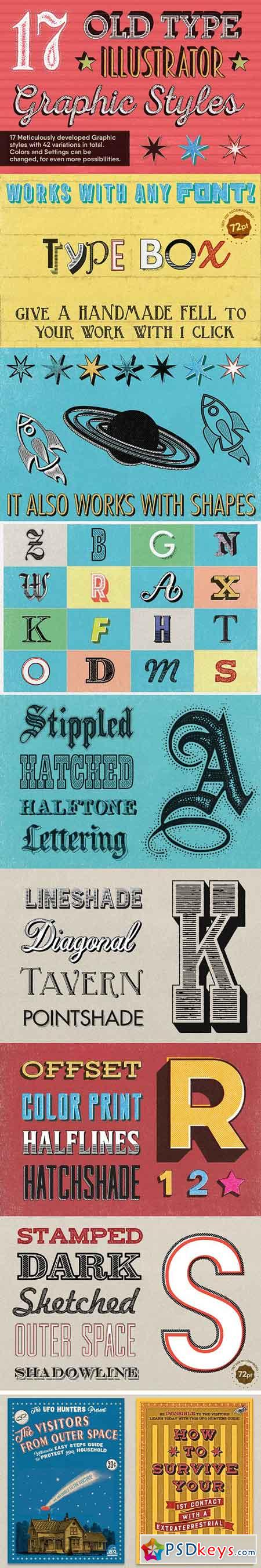 17 Old Type Graphic Styles 1283364