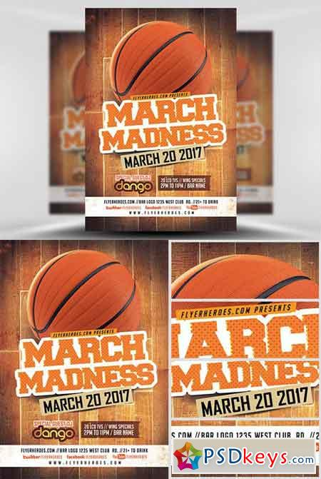 March Madness Basketball Flyer Template V1