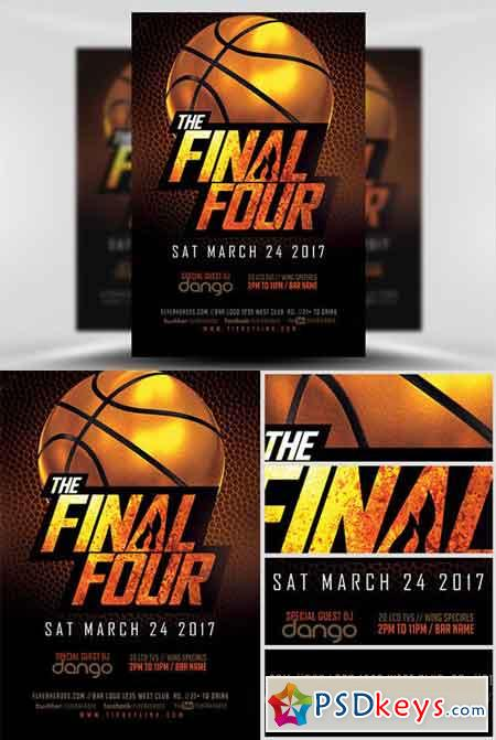 The Final Four Basketball Flyer Template