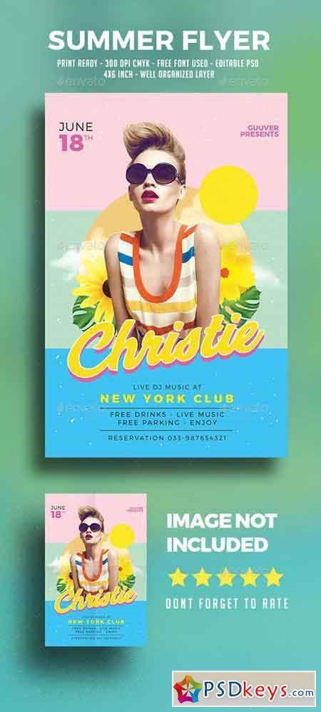 Summer DJ Flyer 19568059