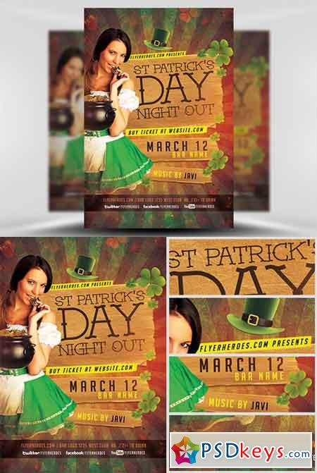 St. Patrick's Night Out Flyer Template