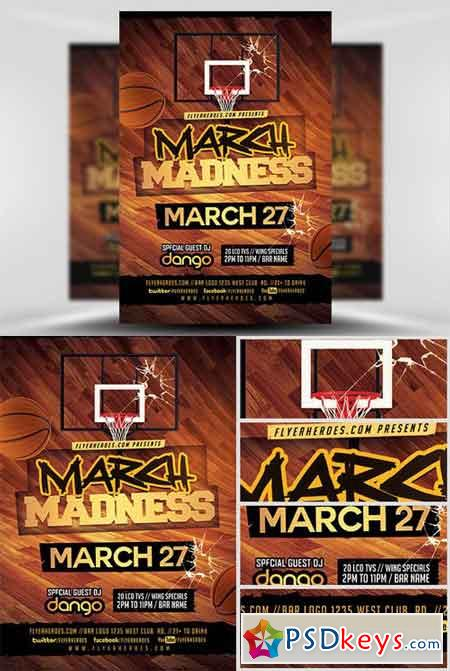 March Madness Basketball Flyer Template v3