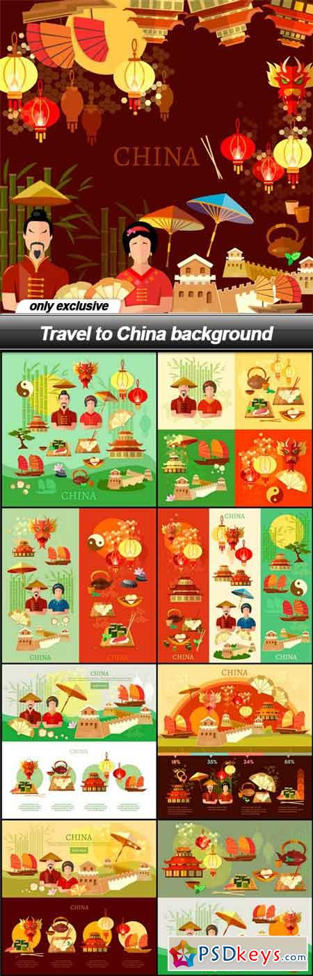 Travel to China background - 9 EPS