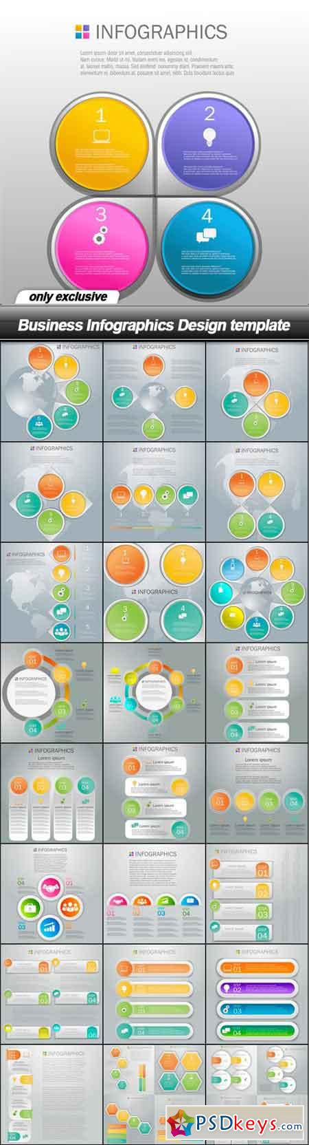 Business Infographics Design template - 25 EPS