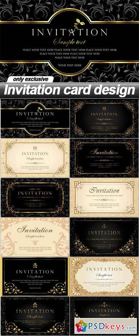 Invitation card design 12 eps free download photoshop vector invitation card design 12 eps stopboris Image collections