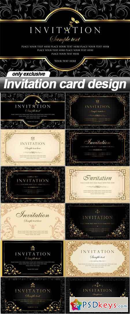 Invitation card design - 12 EPS