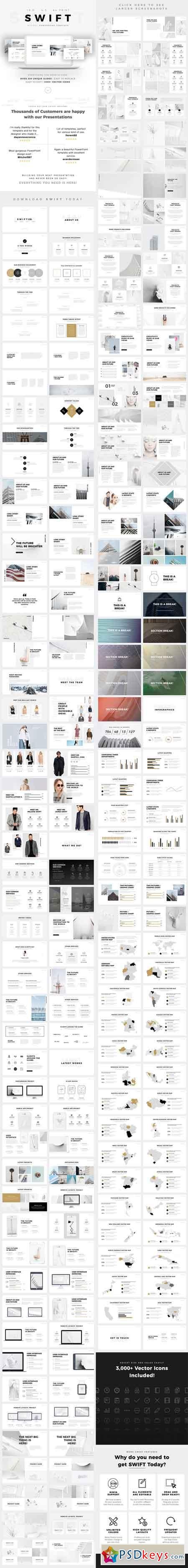 swift minimal powerpoint template builder 19432778 » free download, Presentation templates