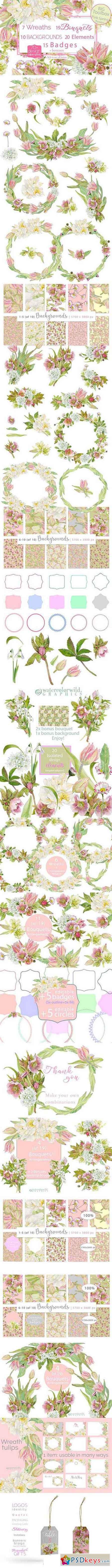 BIG Toolbox-Pink Spring Flowers 1201264