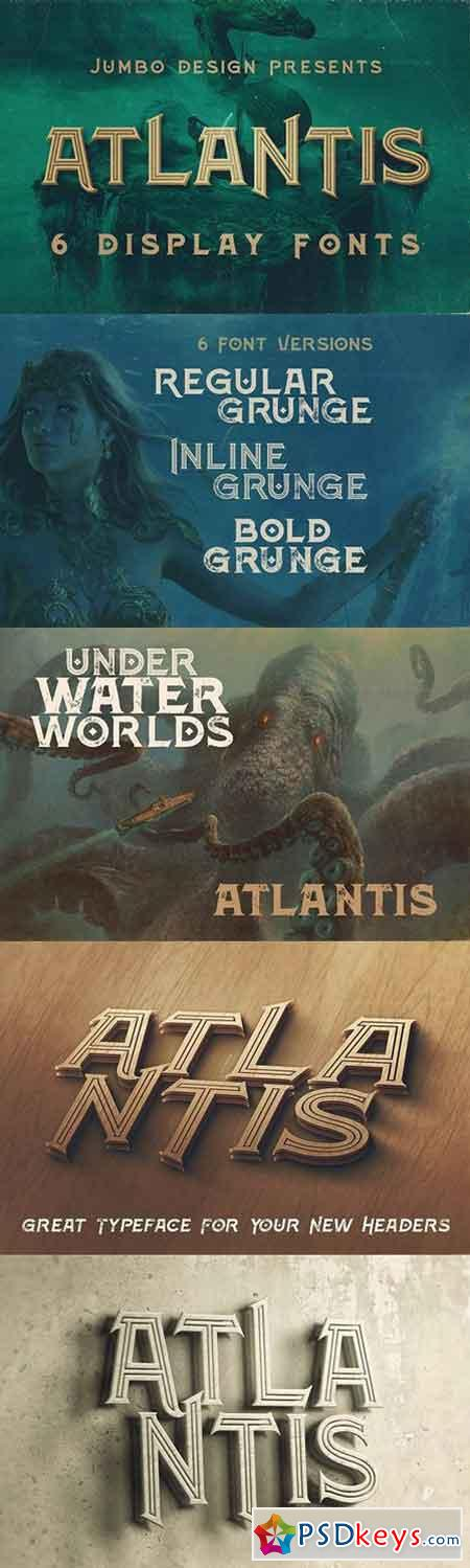 Atlantis - Vintage Style Font 1301491