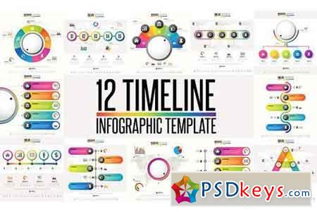 12 Timeline & Infographic Template 3 1277289