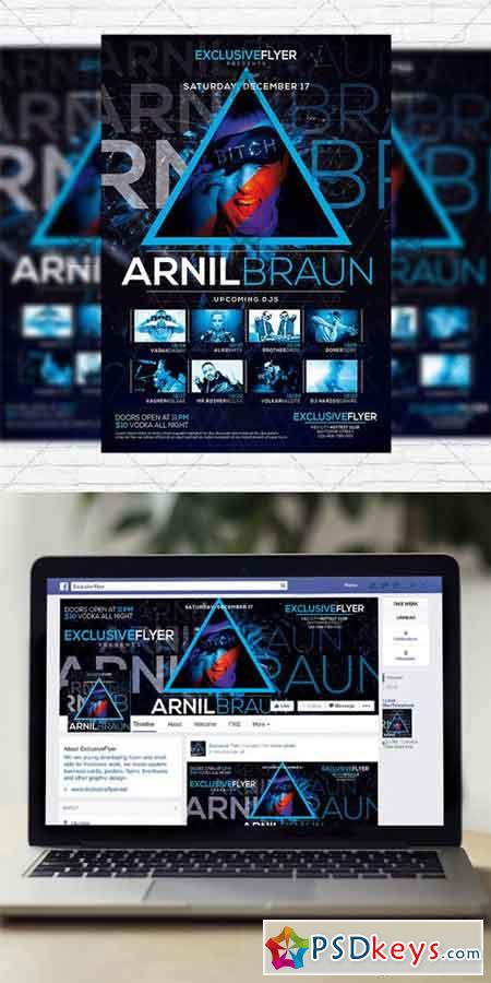 Dj Event Flyer Template Facebook Cover Free Download Photoshop