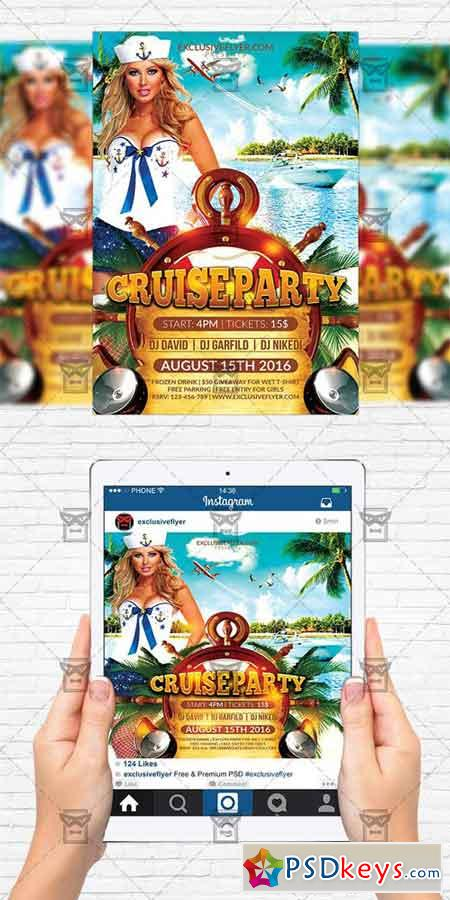 Cruise Party - Flyer Template + Instagram Size Flyer