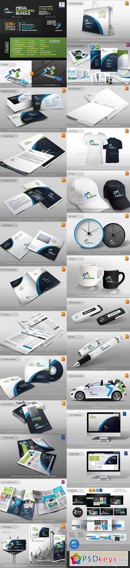 Presentica Business Identity Mega Branding Bundle 2994870