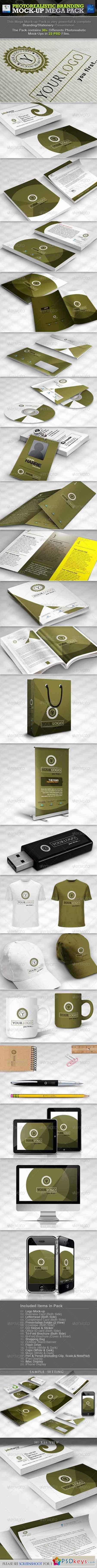 Photorealistic Branding Mock-up Mega Pack 3359729