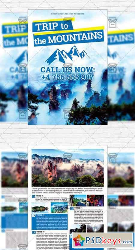 2 sided brochure templates - trip to the mountains two sided flyer template free