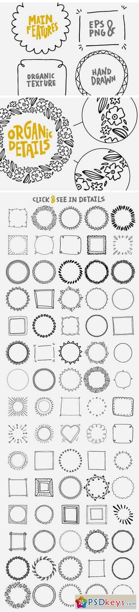 150 Digital Frames (EPS, PNG) 1294789