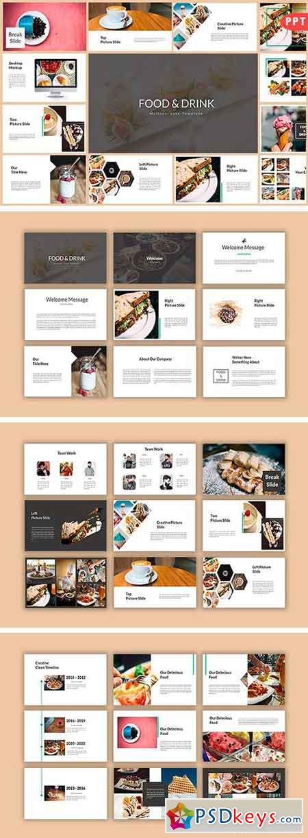 Food & Drink Multipurpose Powerpoint 1297769