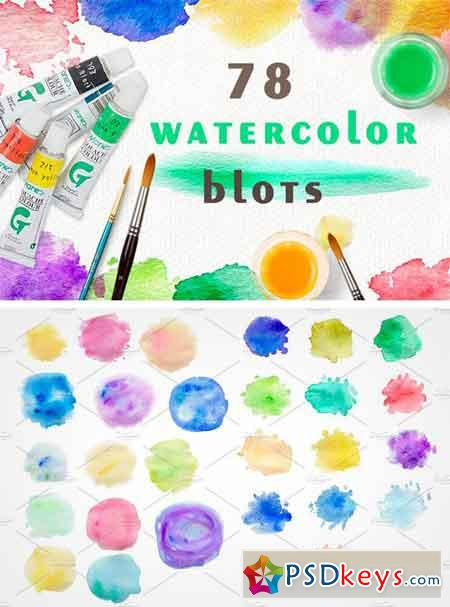 Set of Watercolor Blots 1298864