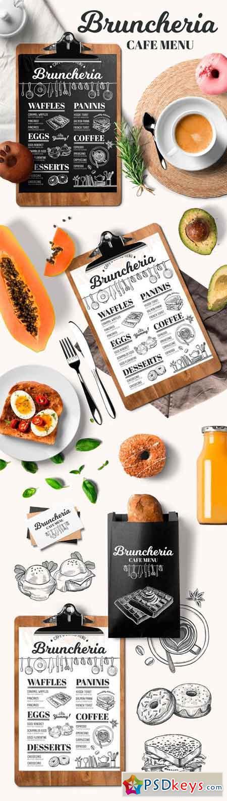 brunch menu restaurant template 1295166 free download photoshop vector stock image via. Black Bedroom Furniture Sets. Home Design Ideas
