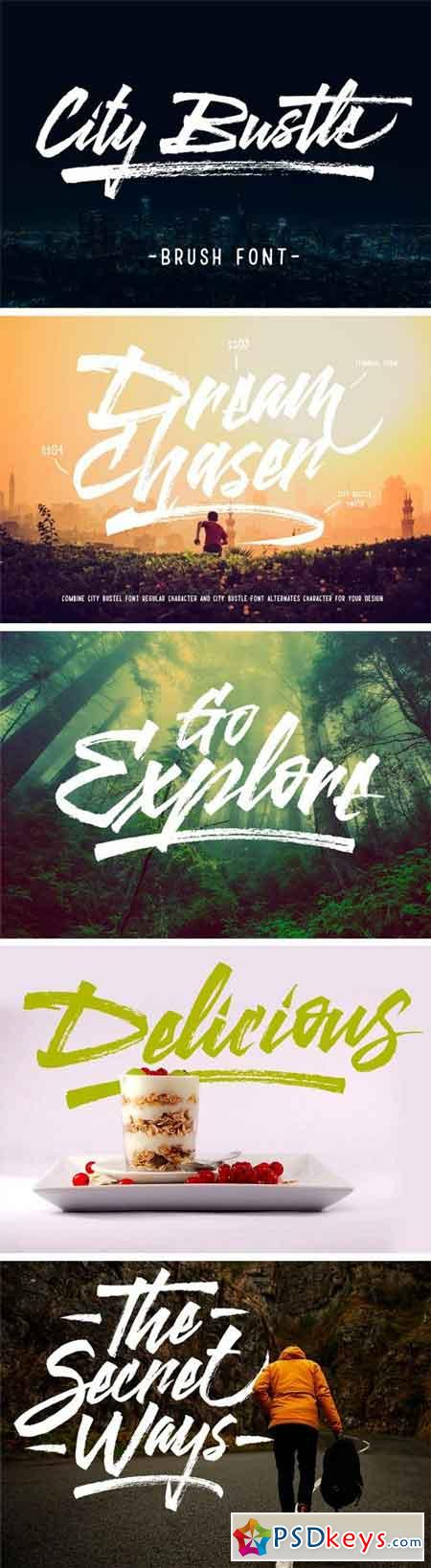 City Bustle Brush Font 1294638