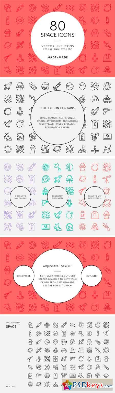 Line Icons – Space 1300054