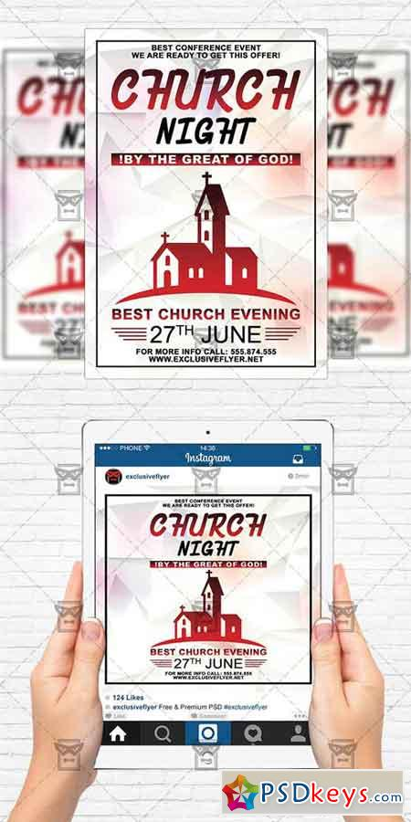 church night flyer template instagram size flyer free download photoshop vector stock. Black Bedroom Furniture Sets. Home Design Ideas