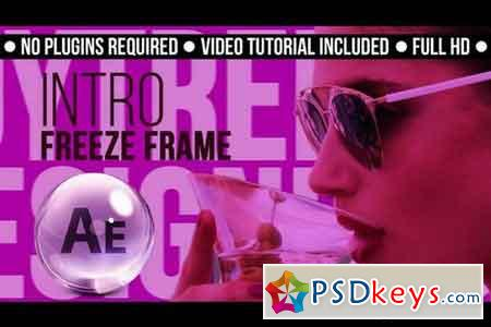 Intro Freeze Frame - After Effects Projects