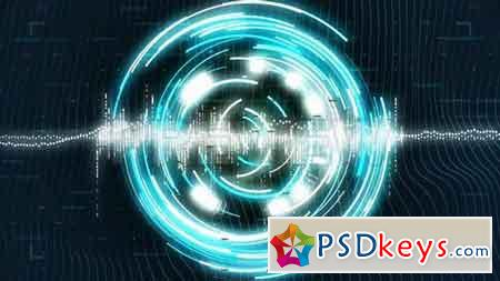 Rotating Sci-fi Circles - Stock Motion Graphics