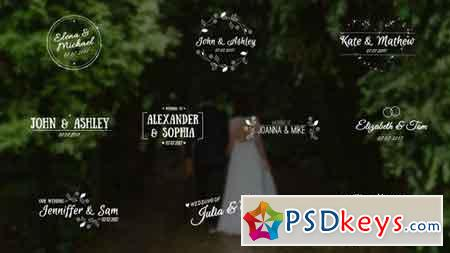 Wedding Titles - After Effects Projects