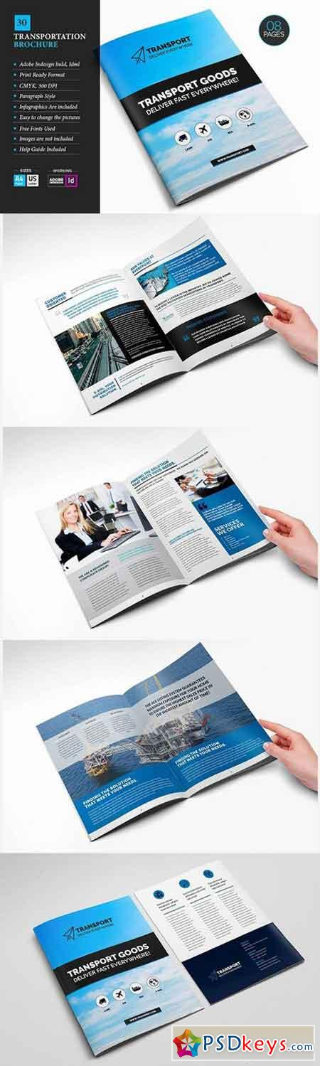 Transportation Brochure Template 30 752613