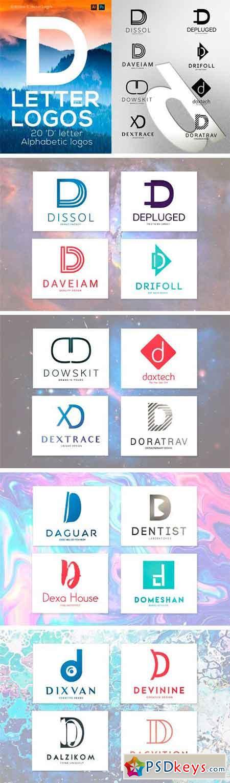 20 D Letter Alphabetic Logos  1074561
