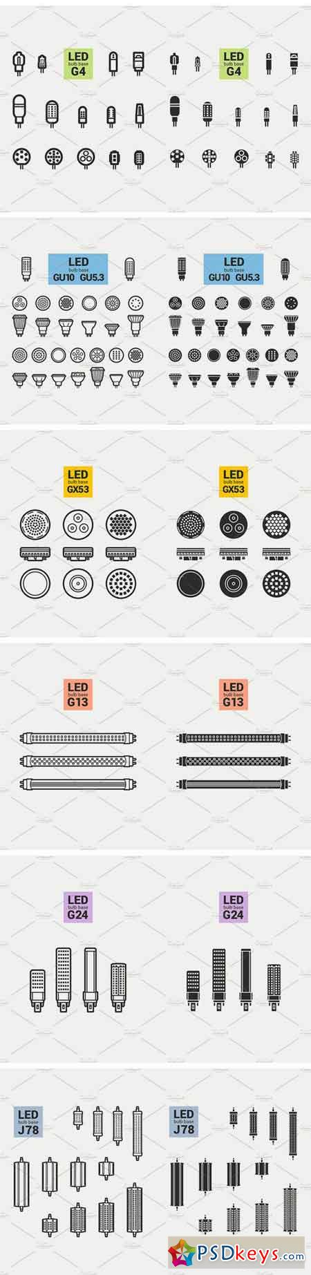 LED Light Bulbs Big Set 1296966