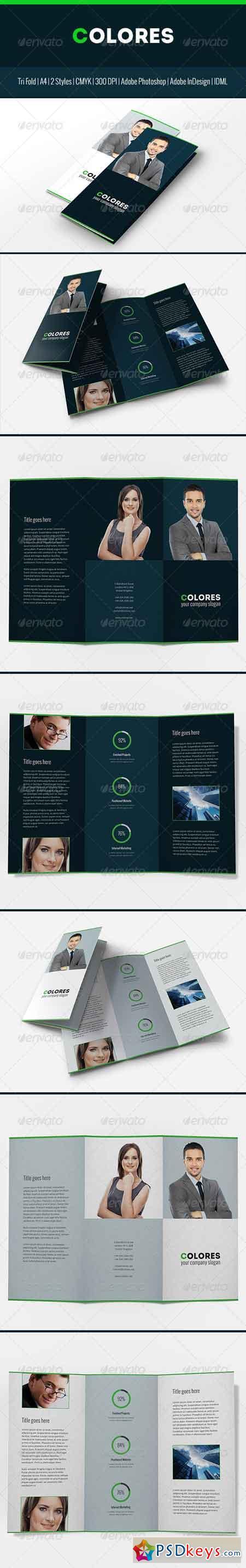 Colores Brochure Corporate Tri Fold 7165613