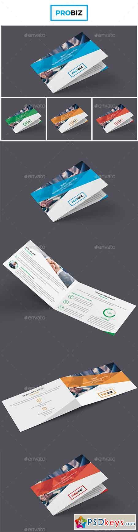 ProBiz - Business and Corporate Brochure Bi-Fold A5 Horizontal 19131278