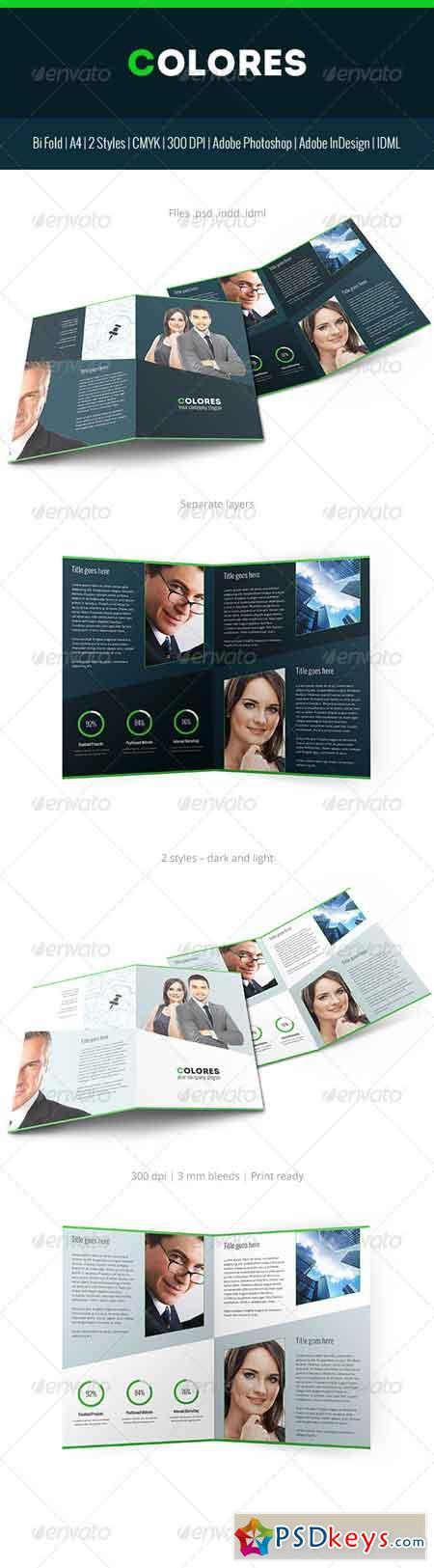 Colores Brochure Corporate Bi Fold 7114128
