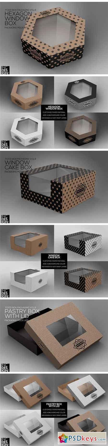 VOL.6 Food Box Packaging Mock Ups 1296078