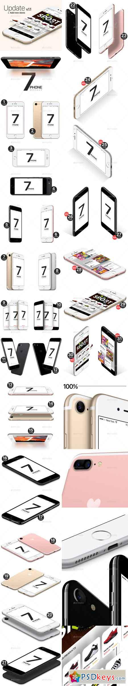 Phone 7 and 7 Plus Vector Mockups 19497908