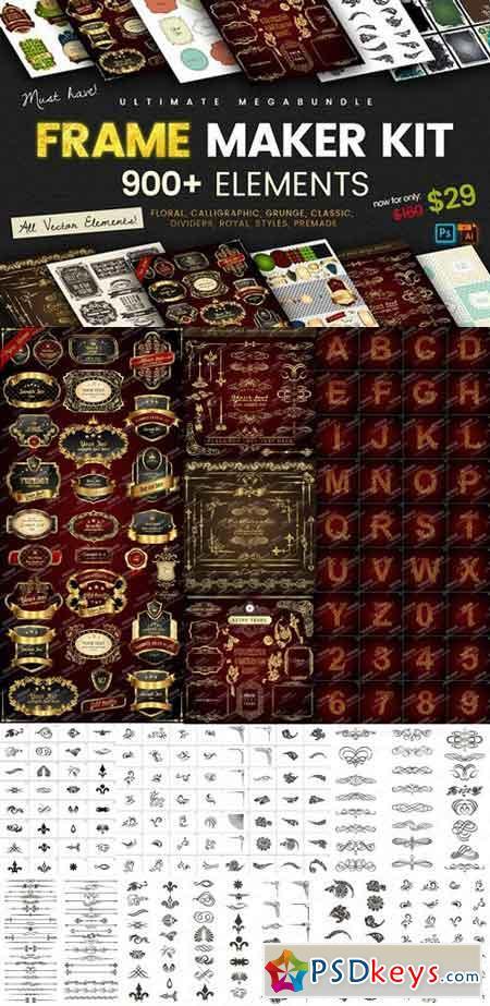 FRAME maker kit 900+ elements 1274379