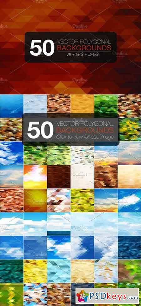 50 polygonal vector backgrounds 1312083