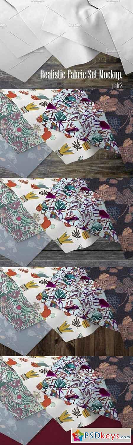 Realistic Fabric Set MockUp 2 1321967