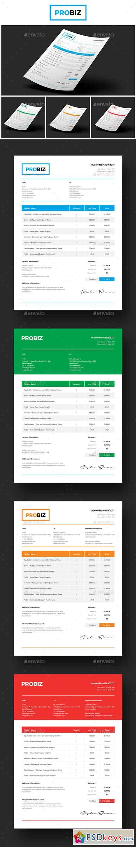 ProBiz – Business and Corporate Invoice 19583382