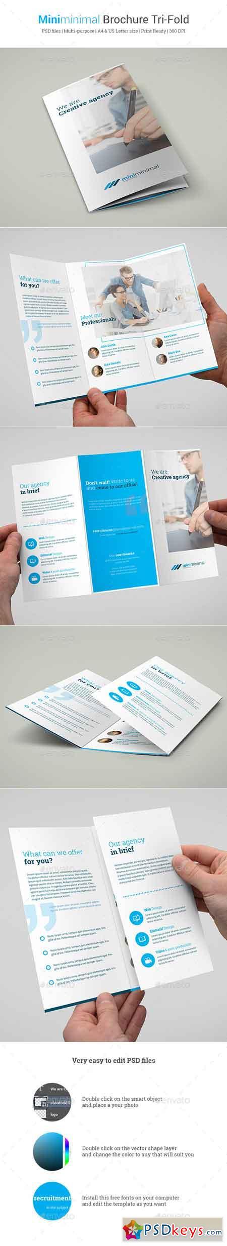 Miniminimal Brochure Tri-Fold 10472350