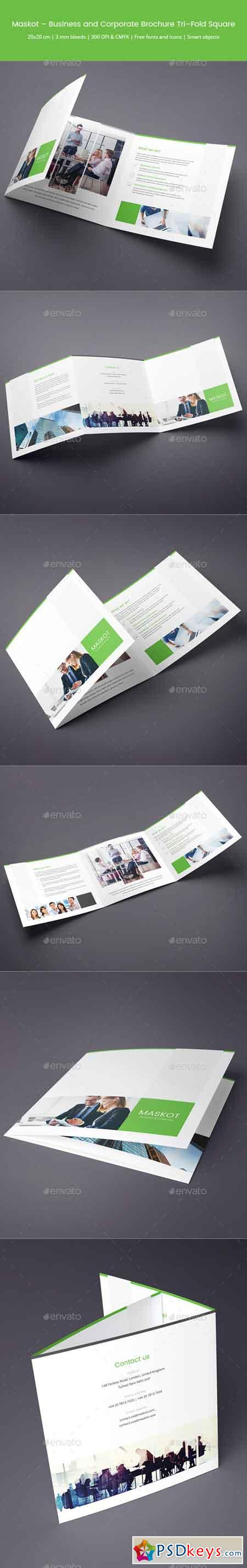 Maskot – Business and Corporate Brochure Tri-Fold Square 16999327