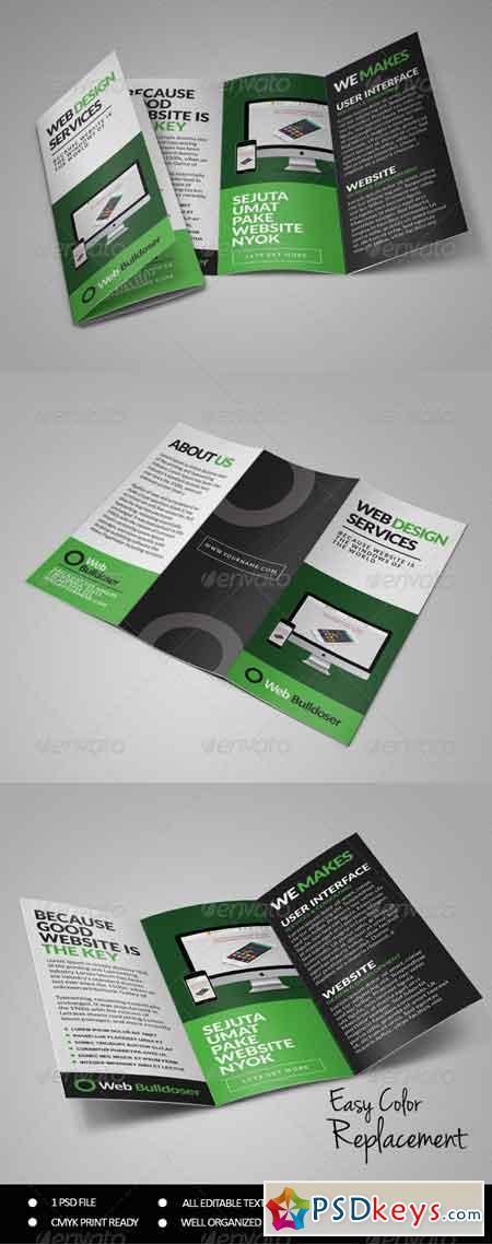 Premium Web Design Trifold Brochure 7496425