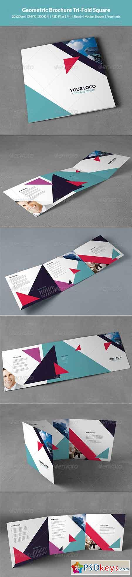 Geometric Brochure Tri-Fold Square 8548184
